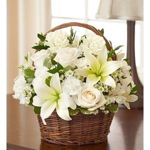 Denville Florist | Basket of Whites