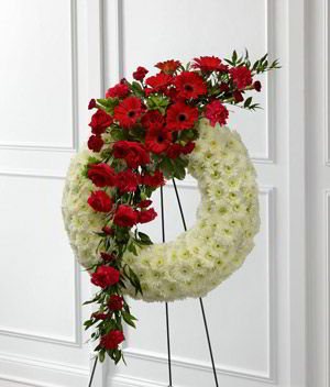 Denville Florist | Rose Gerber Wreath