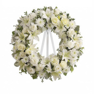 Denville Florist | White Wreath